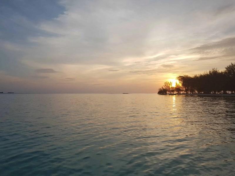 Coucher de soleil à Karimunjawa, Indonésie