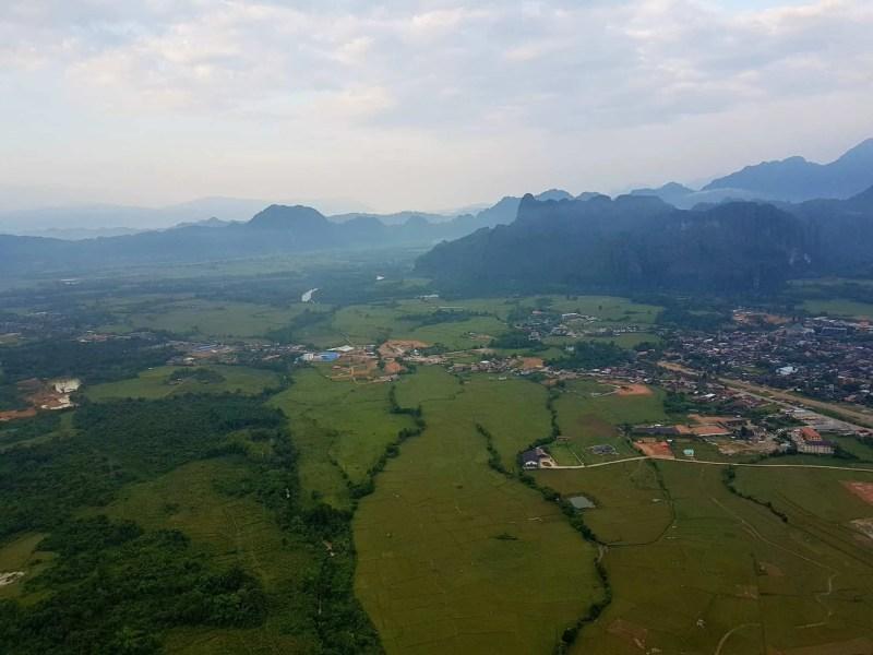 Laos, un vol en montgolfière au dessus de Vang Vieng riche en émotions 🎈 9