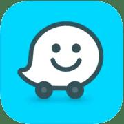 waze application de GPS pour trajet en voiture