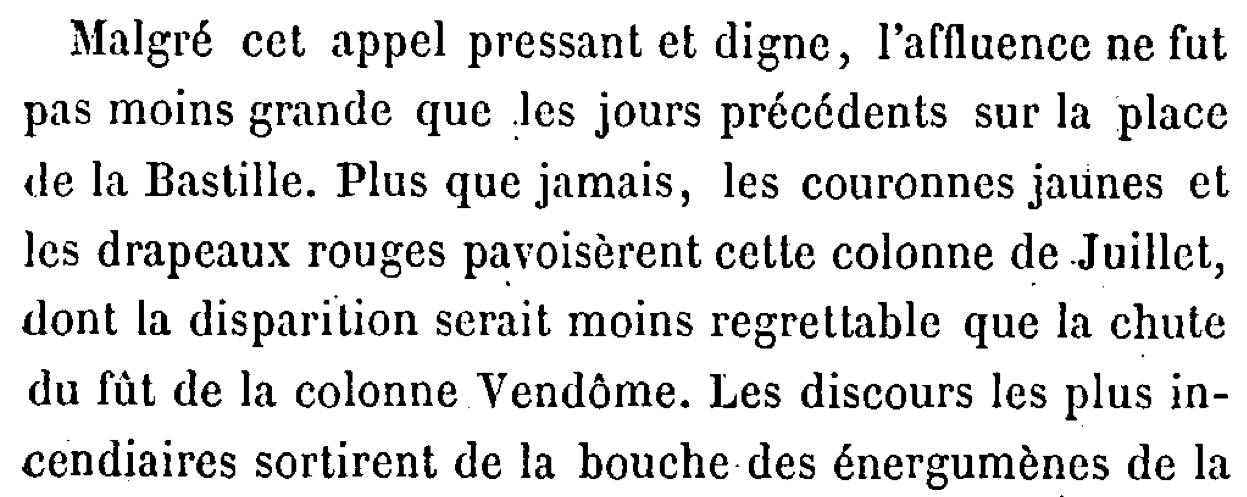 """Page 48 de """"La guerre des communeux"""" d'Eugène Hennebert."""