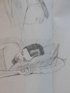 Andrea, graphite on paper