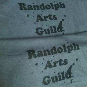 Randolph Arts Guild t-shirts