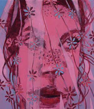 portrait of veiled woman