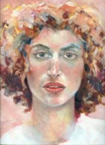 Barbara, acrylic on paper, 1998