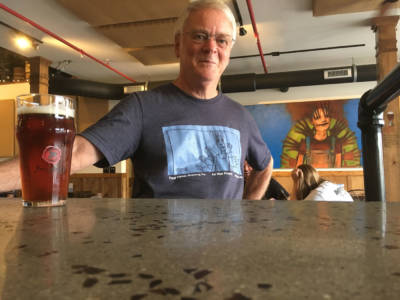FSBC patron in Art Wall Project shirt
