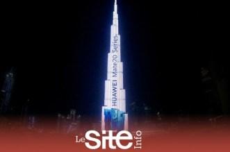 Huawei illumine le Burj Khalifa pour le lancement du HUAWEI Mate 20 RS (vidéo)
