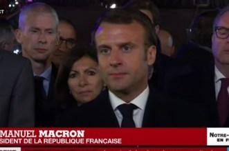 Incendie à Notre-Dame de Paris: Macron s'est rendu sur place (VIDEOS)