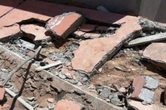 Kénitra: une partie d'une école en construction s'effondre