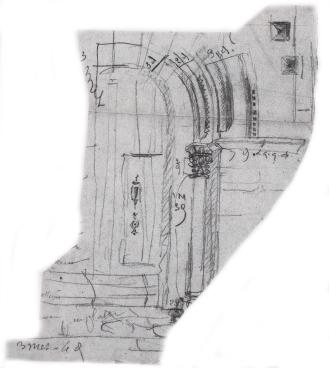 Le portail de l'ancienne collégiale saint-taurin, aujourd'hui entrée de la chapelle Saint-Taurin