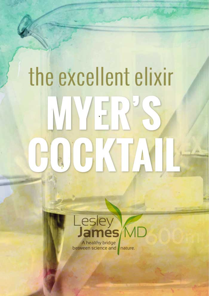 The cocktail in question is the brainchild of the late Dr. John Myers, a Baltimore physician who pioneered the use of intravenous nutrient mixtures more than 50 years ago to treat a wide range of ailments, including migraine headaches, fibromyalgia, chronic fatigue, chronic sinusitis, seasonal allergies, acute upper respiratory infections, asthma, muscle spasms, chronic depression/anxiety and more. This treatment, known formally as Intravenous Micronutrient Therapy, is commonly called Myers' Cocktail.