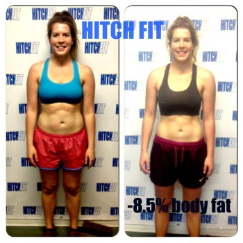 She focused on fat loss & not scale weight!