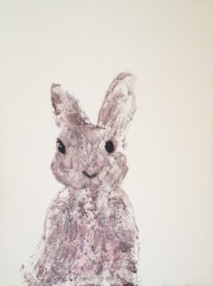 Purple Bunny donated to Paintings in Hospitals