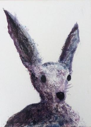Purple Hare 40 x 30