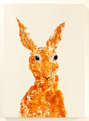 Orange canvas 46 x 33