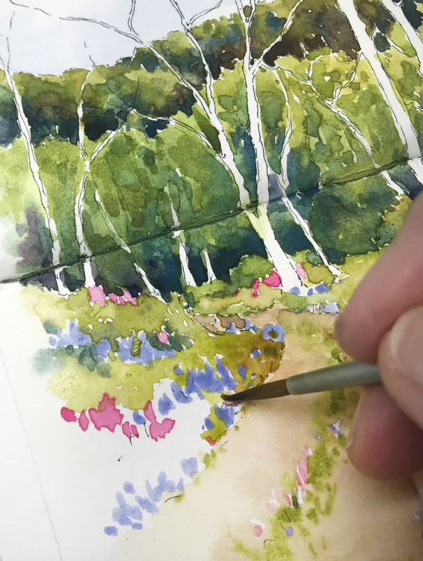 Painting grasses