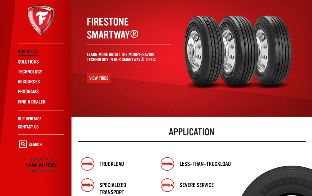Commercial.Firestone.com Product Page