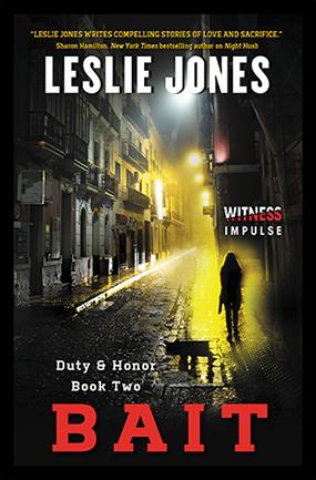 Dark city block with woman