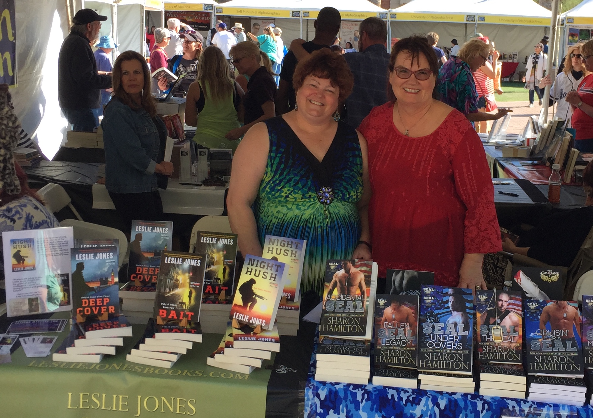 Leslie Jones & Sharon Hamilton at the Tucson Festival of Books
