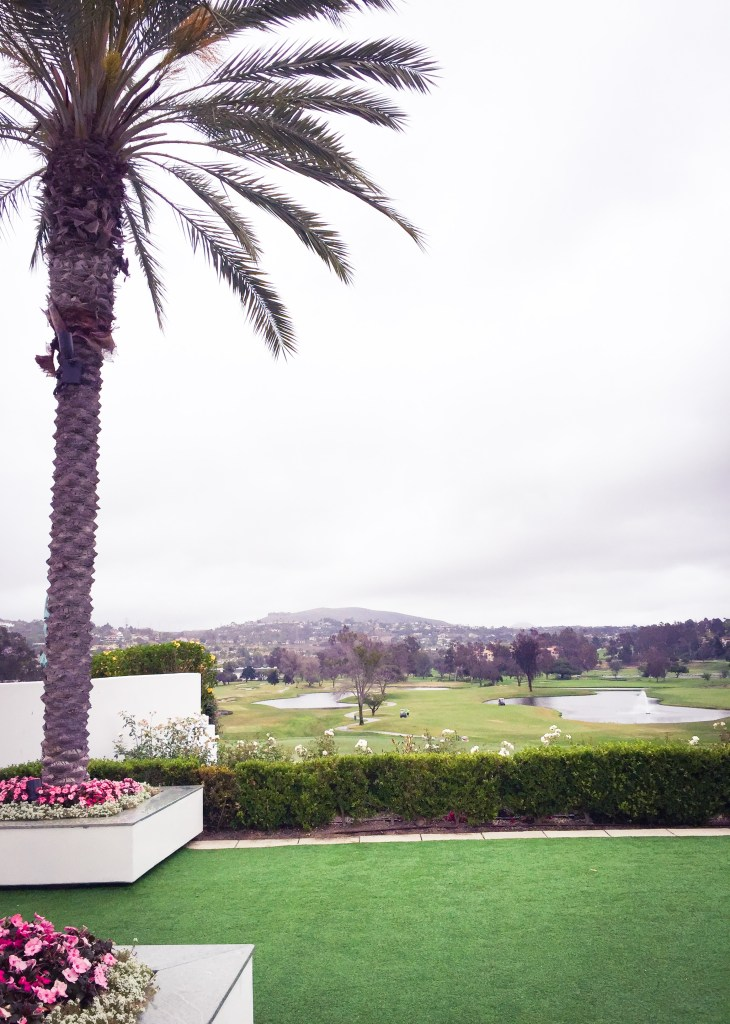 The view of one of the golf courses at Omni La Costa - relaxing on vacation