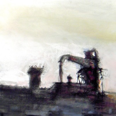 "Wabash #26. Chalk pastel on paper, 15"" x 15"", 2010 SOLD"