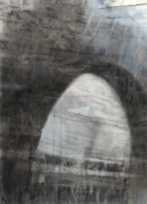 """Arch. Charcoal and crayon on vellum, 8.25"""" x 6.25"""", 2014 SOLD"""