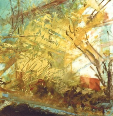"""Wabash #31. Oil and charcoal on mylar, 3.5"""" x 3.5"""", 2013  SOLD"""