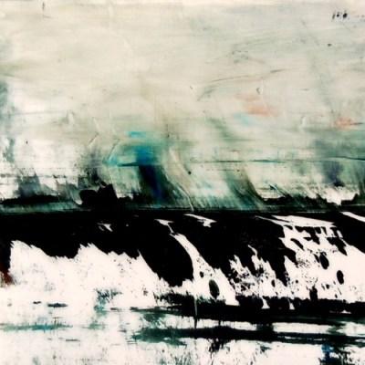"Glacier. Oil on duralar on panel, 8"" x 8"", 2016 | SOLD"