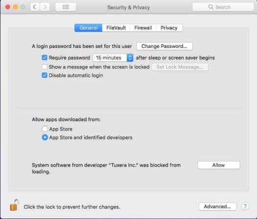 macOS System Preferences