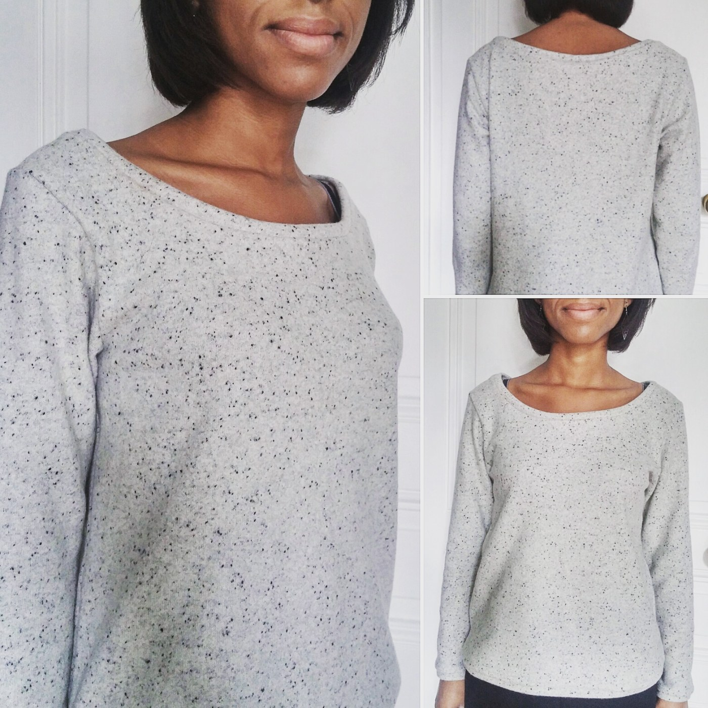 Sweat gris en laine