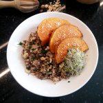 Duo de quinoa aux shiitakés et butternut rôti