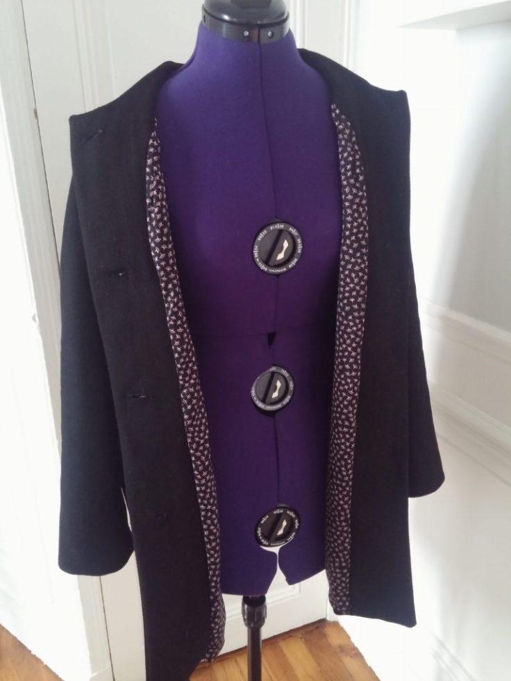 Doublure du manteau en laine