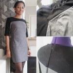 Couture d'une robe droite en flanelle