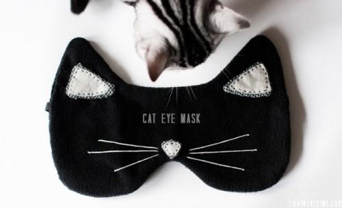 masque de sommeil chat