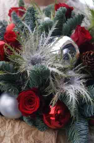 Bouquet de Noël personnalisé sur carcasse
