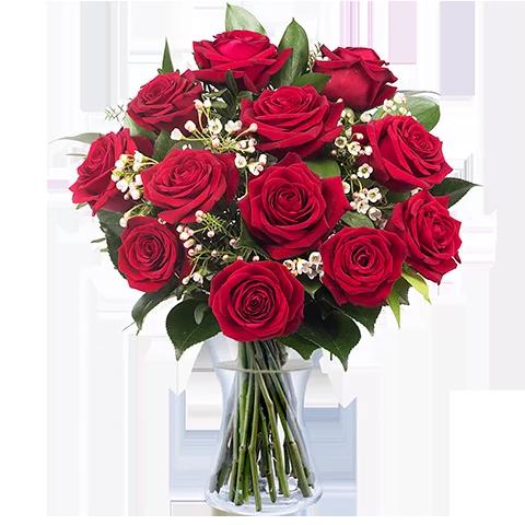 Bouquet de roses - LE CLASSIQUE SAINT VALENTIN - ROSES ROUGES - Lesmeilleursfleuristes.com