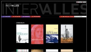 Le nouveau site des Editions Intervalles