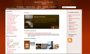 Refonte du site des editions Magellan
