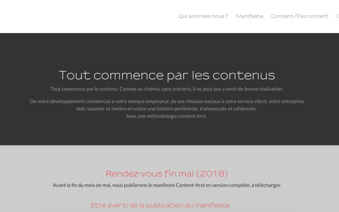 Un nouveau projet : Content-first.fr