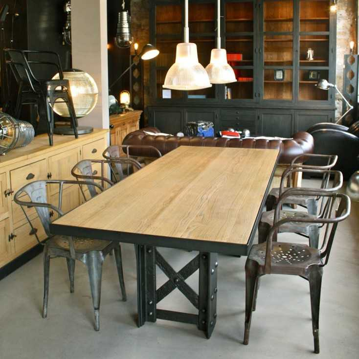 table industrielle bois metal