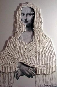 """Tampon Mona Lisa"", par Dave Morris (2005)"
