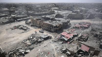La reprise de la grande ville du nord intervient au terme d'une offensive lancée le 17 octobre par les forces irakiennes, soutenues par la coalition internationale dirigée par les Etats-Unis. © AFP