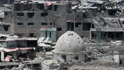 Les près de neuf mois de campagne militaire ont entraîné une crise humanitaire majeure. © AFP