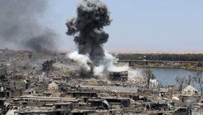 Mossoul avait une importante dimension symbolique pour Daesh: son chef Abou Bakr al-Baghdadi y avait fait en juillet 2014 son unique apparition publique après la proclamation d'un «califat» sur les vastes territoires conquis par le groupe jihadiste en Irak et en Syrie. ©AFP