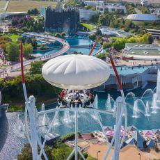 vue aérienne du parc