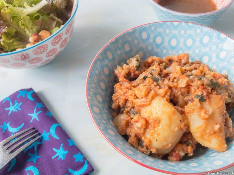 Curry de chou fleur et de pomme de terre