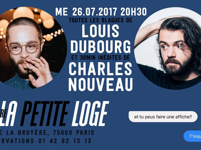 Louis Dubourg et Charles Nouveau à la Petite Loge