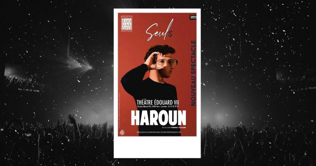Seuls : affiche du nouveau spectacle de l'humoriste Haroun