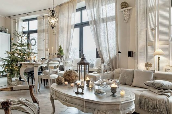 la decoration d une salon shabby chic