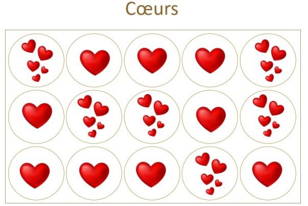 Les Prodigieux Coffret coeurs x15