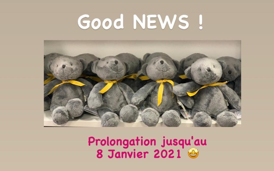 Bonne nouvelle!